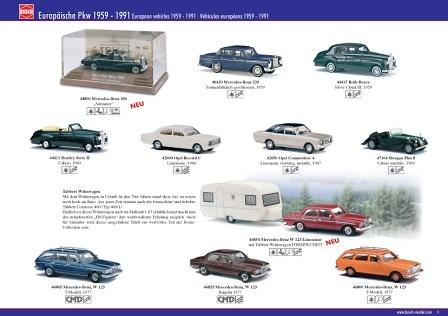 Mercedes Benz W123 Limousine (1977) CMD Busch 46855 1/87