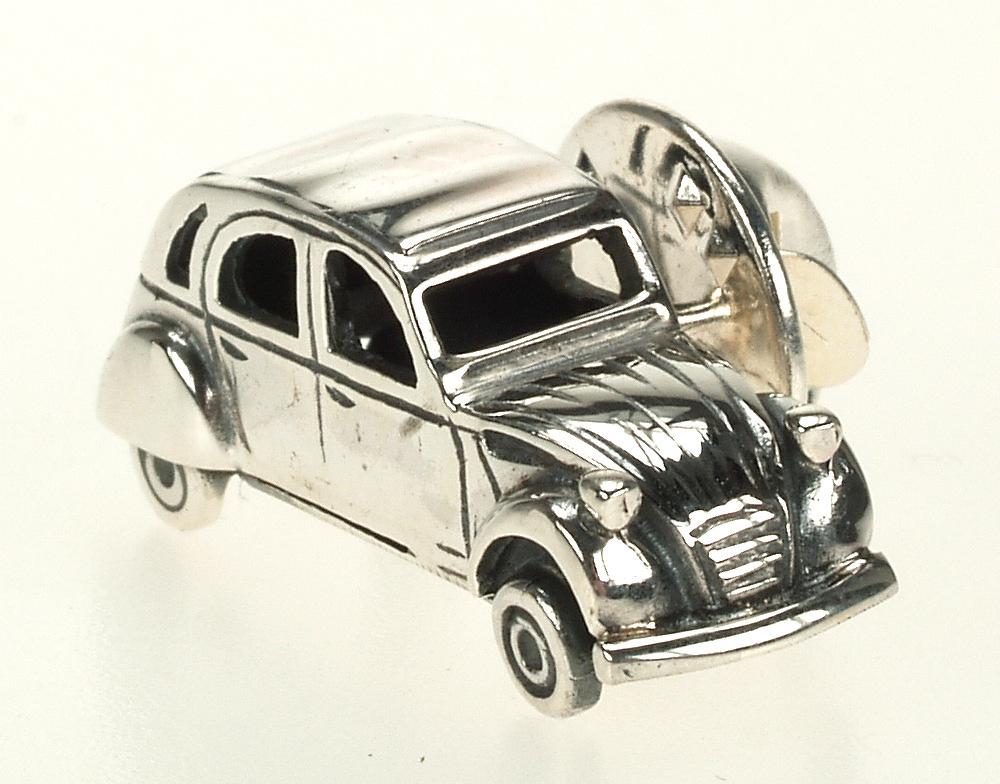 Pin Citroen 2CV Plata de 1ª Ley