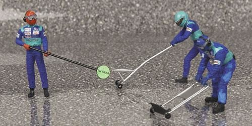 Sauber Pitstop Jack Set -aviso salida- (2002) Minichamps 343100034 1/43