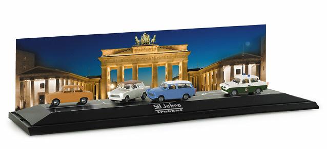 Set 2 vehículos 50 aniversario Trabant Herpa 461283 1/87