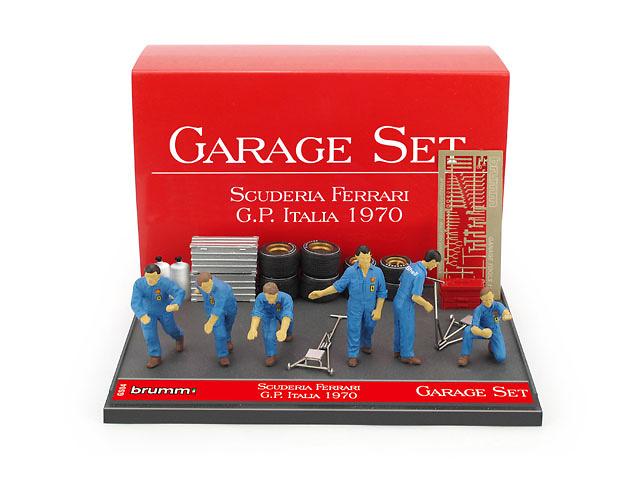 Set Garaje Escudería Ferrari (1970) Brumm GS04 1:43