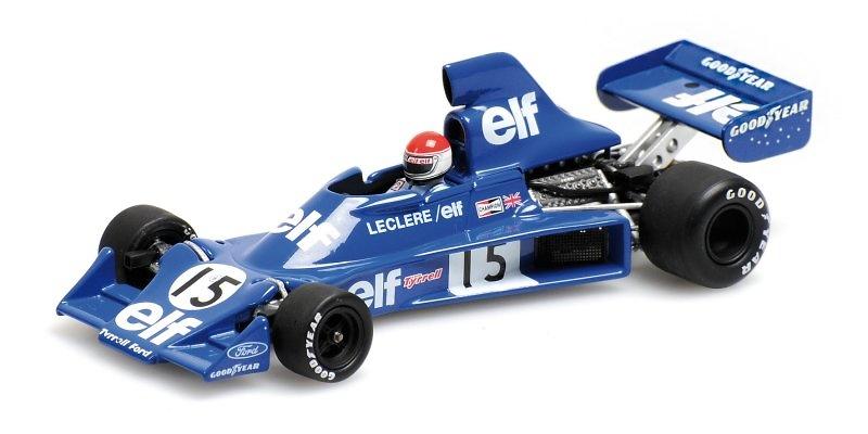 Tyrrell 007 nº 15 Michele Leclere (1975) Minichamps 400750115 1:43