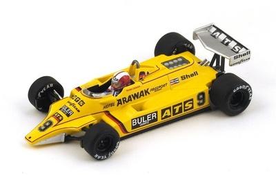 """ATS D4 """"GP. Francia"""" nº 9 Marc Surer (1980) Spark 1:43"""