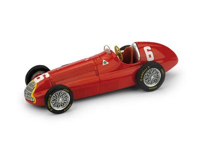 """Alfa Romeo 158  """"1° GP. Francia""""  nº 6 Juan Manuel Fangio (1950) Brumm 1/43"""