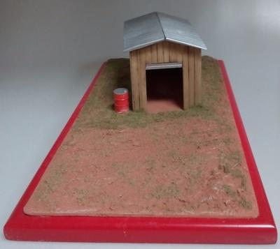 Diorama garaje de madera Microworld 1:43