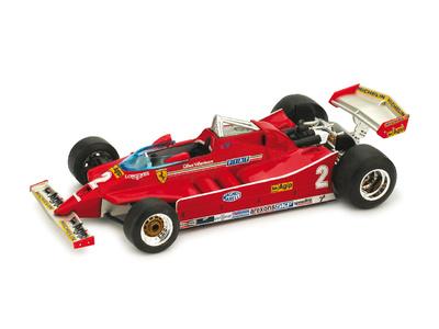 "Ferrari 126 C ""GP. IMOLA Prueba"" nº 2 Gilles Villeneuve (1980) Brumm 1/43"