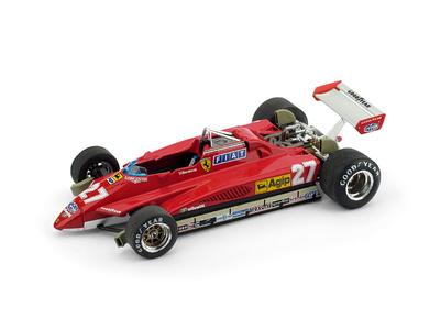 "Ferrari 126 C2 ""GP. San Marino"" nº 27 Gilles Villeneuve (1982) Brumm 1/43"