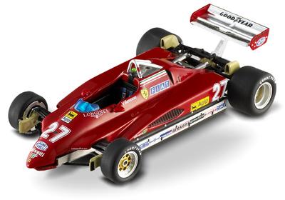 """Ferrari 126 C2 """"GP. San Marino"""" nº 27 Gilles Villeneuve (1982) Hot Wheels Elite 1/43"""