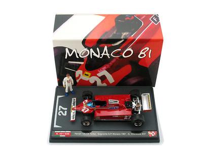 """Ferrari 126 CK """"1º GP. Mónaco"""" nº 27 Gilles Villeneuve (1981) Brumm 1/43"""