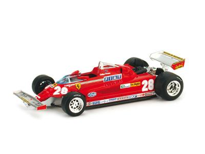 """Ferrari 126 CK """"GP. Italia"""" nº 28 Didier Pironi (1981) Brumm 1/43"""