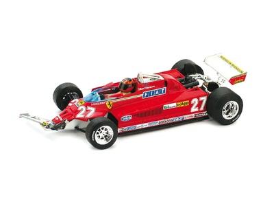 "Ferrari 126 CK Turbo ""GP. Canadá"" (vuelta 39-54) nº 27 Gilles Villeneuve (1981) Brumm 1/43"