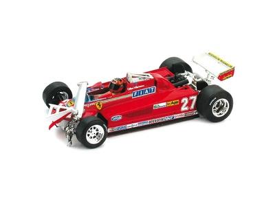 "Ferrari 126 CK Turbo ""GP. Canadá"" (vuelta 55-56) nº 27 Gilles Villeneuve (1981) Brumm 1/43"