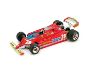 "Ferrari 126CK ""GP. USA Ovest"" nº 28 Didier Pironi (1981) Brumm 1/43"