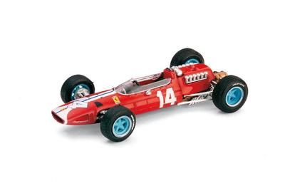 """Ferrari 158 F1 """"5º GP. USA"""" nº 14 Pedro Rodriguez (1965) Brumm 1/43"""
