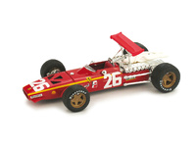 """Ferrari 312 F1 """"1º GP. Francia"""" nº 26 Jacky Ickx (1968) Brumm 1/43"""