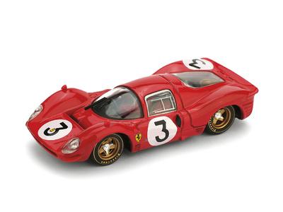 "Ferrari 330P4 ""1º 1000 Km. Monza"" #3 Bandini - Amon (1967) Brumm 1/43"