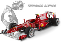 "Ferrari F10 ""GP Barein"" nº 8 Fernando Alonso (2010) Hot Wheels 1/18"