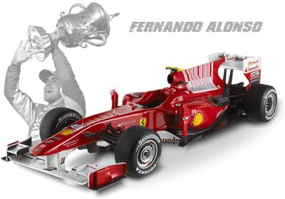 "Ferrari F10 ""GP Barein"" nº 8 Fernando Alonso (2010) Hot Wheels 1/18"