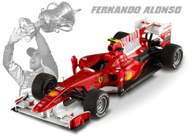 "Ferrari F10 ""GP. Barein"" nº 8  Fernando Alonso (2010) Hot Wheels -Elite- T6266 1/43"