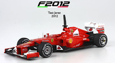 "Ferrari F2012 ""Test Jerez"" Fernando Alonso (2012) BBR 1/43"
