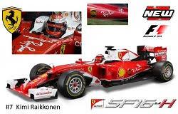 "Ferrari SF16-H ""Ray Ban"" nº 7 Kimi Raikkonen (2016) Bburago 1/18"