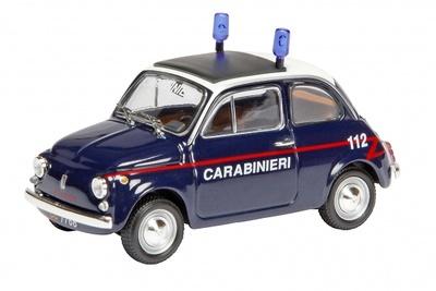 """Fiat 500 """"Carabinieri"""" (1960) Schuco 1/87"""