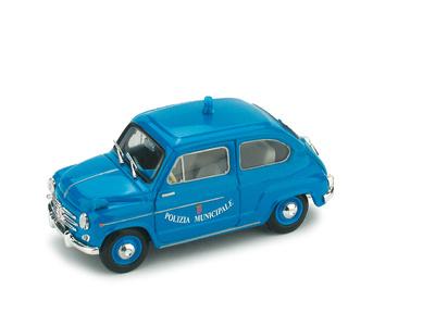 """Fiat 600D """"Polizia Municipale Roma"""" (1960) Brumm 1/43"""