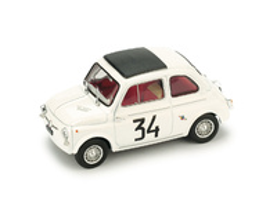 """Fiat Abarth 595 """"1º Criterium Monza"""" #34 F. Patria (1964) Brumm 1/43"""