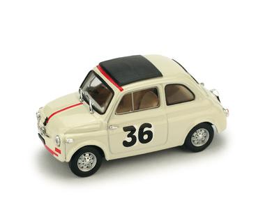"""Fiat Nuova 500 """"Premio Campagnano Vallelunga"""" #36 Ignazio Giunti (1965) Brumm 1/43"""