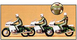Figuras Policia Trafico con Motos Preiser 1/87