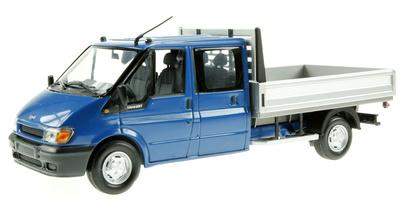 Ford Transit Doble Cabina con caja (2000) Minichamps 1/43