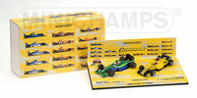 Jordan Set Aniversario Jordan 191 Bertrand Gachot (1991) + Toyota EJ15 Tiago Monteiro (2005) Minichamps 1/43
