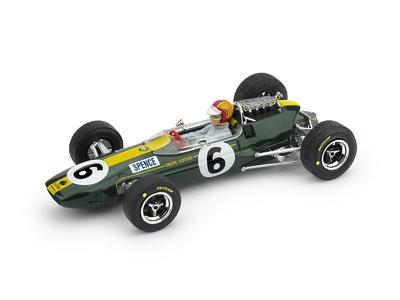 """Lotus 33 """"GP. Gran Bretaña"""" nº 6 Mike Spence (1965) Brumm 1:43"""