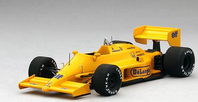 """Lotus 99T """"GP San Marino"""" n°12 Ayrton Senna (1987) TSM 1/43"""