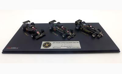 Lotus JPS tipo 77 - 78 - 79 firmado por Mario Andretti (1976-79) True Scale 1/43