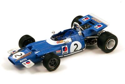 """MatraMS80""""1º GP. Francia""""nº 2 JackieStewart (1969) Spark 1:18"""