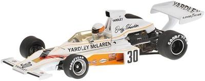 """McLaren M23 """"GP Gran Bretaña"""" nº 30 Jody Scheckter (1973) Minichamps 1/43"""
