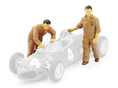 Mecánicos empujando Ferrari F156 (1961) Brumm 1/43