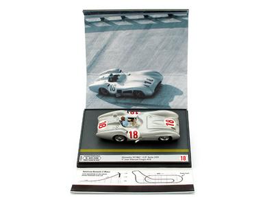 """Mercedes 196C """"1º GP. Italia"""" nº 18  Juan Manuel Fangio (1955) Brumm 1/43"""