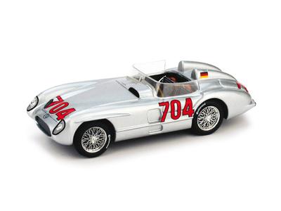 """Mercedes Benz 300SLR """"Mille Miglia"""" #704 H. Hermann -W196- (1955) Brumm 1/43"""