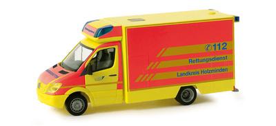 """Mercedes Sprinter Fahrtec RTW """"Holzminden rescue service"""" (2006) Herpa 1/87"""