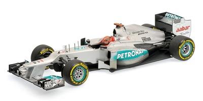 Mercedes W03 nº 7 Michael Schumacher (2012) Minichamps 1/18