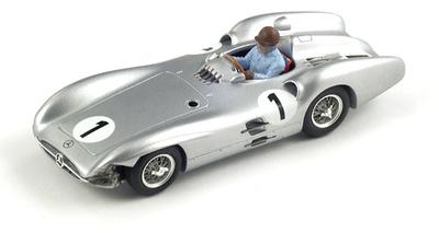 """Mercedes W196 """"GP. Gran Bretaña"""" nº 1 Juan Manuel Fangio (1954) Spark 1/43"""