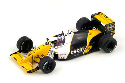 "Minardi M189 ""6º GP. Inglaterra"" nº 24 Luis Perez-Sala (1989) Spark 1:43"