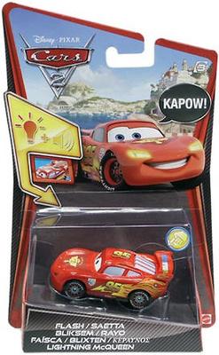 """Personajes de """"Cars 2 - Disney"""" con luz y sonido"""" -Lightning McQueen- Mattel 1/55"""