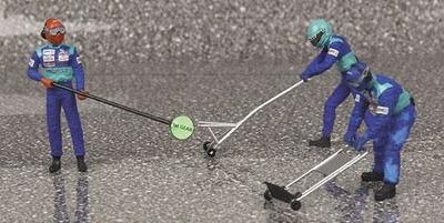 Sauber Pitstop Jack Set -aviso salida- (2002) Minichamps 1/43