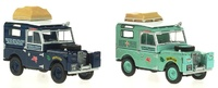 "Set de 2 Land Rover Serie I 88 ""Expedición Londres-Singapur"" (1955) Oxford 1/43"