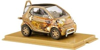 "Smart Fortwo ""Gold-Smart"" (1998) Busch 1/87"
