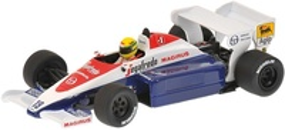 "Toleman Hart TG184 ""15 aniversario"" nº 19 Ayrton Senna (1984) Minichamps 1/43"