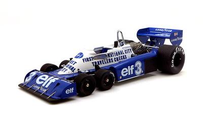 Tyrrell P34 GP. Bélgica nº 3 Ronnie Peterson (1977) True Scale 1:18